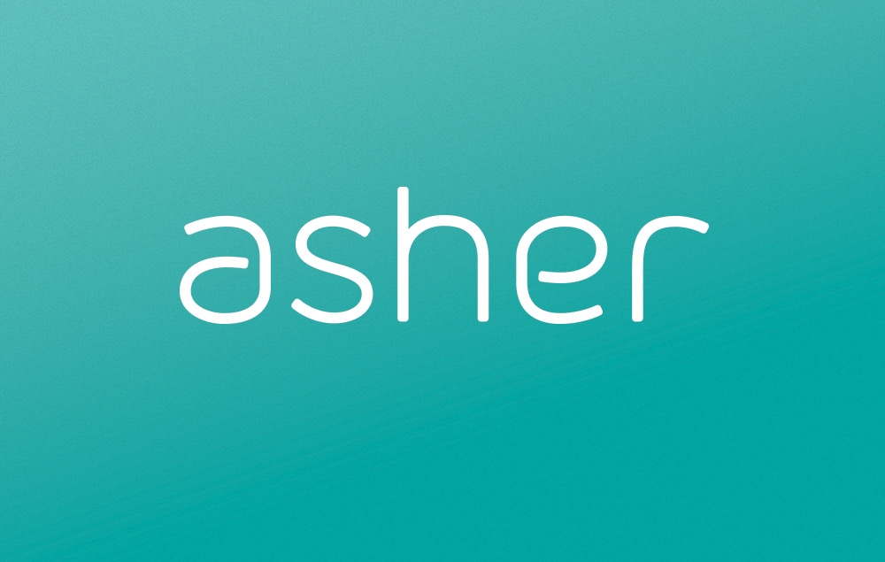 Asher Agency logo reversed
