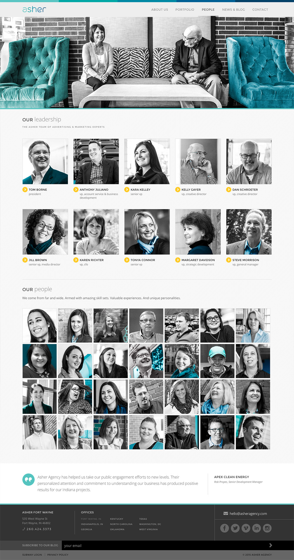 Asher Agency Website: People