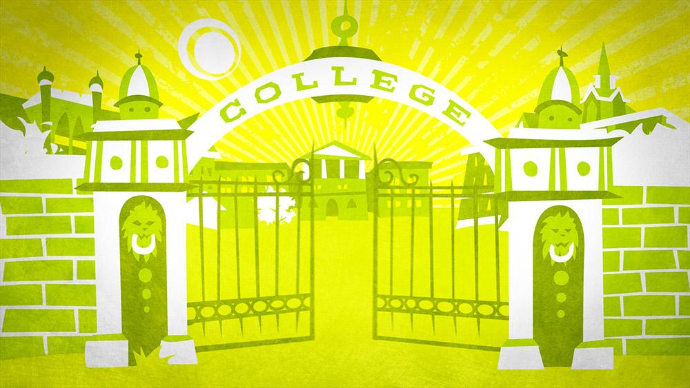 Behind Bars: college illustration