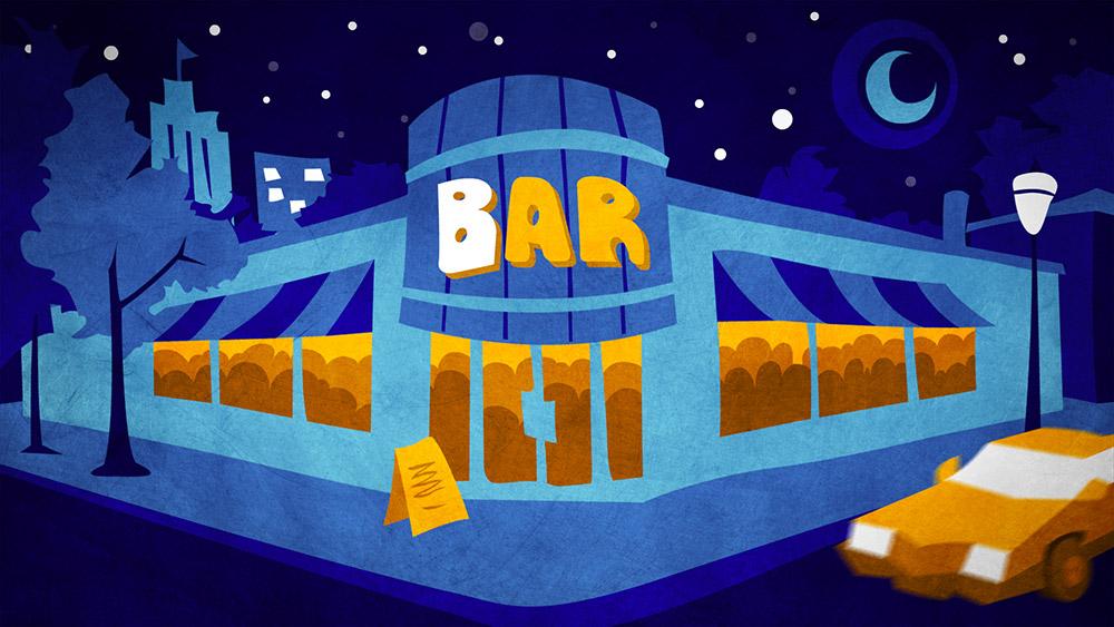 Behind Bars: bar illustration