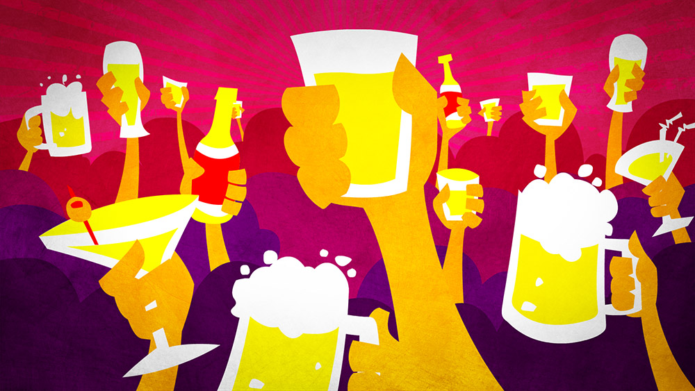 Behind Bars: drinks illustration