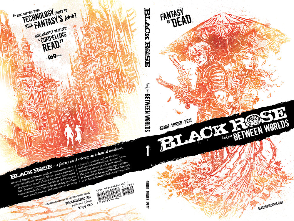 Black Rose: Book 1 wraparound cover