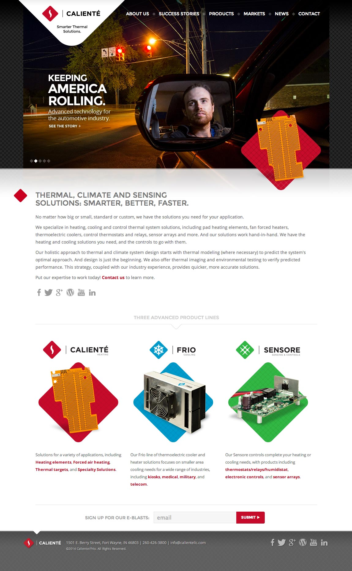 Caliente: Homepage