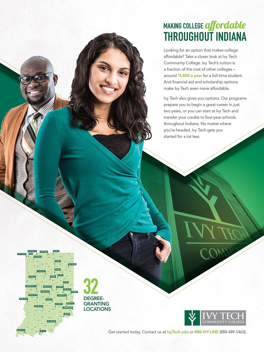 Ivy Tech print ad