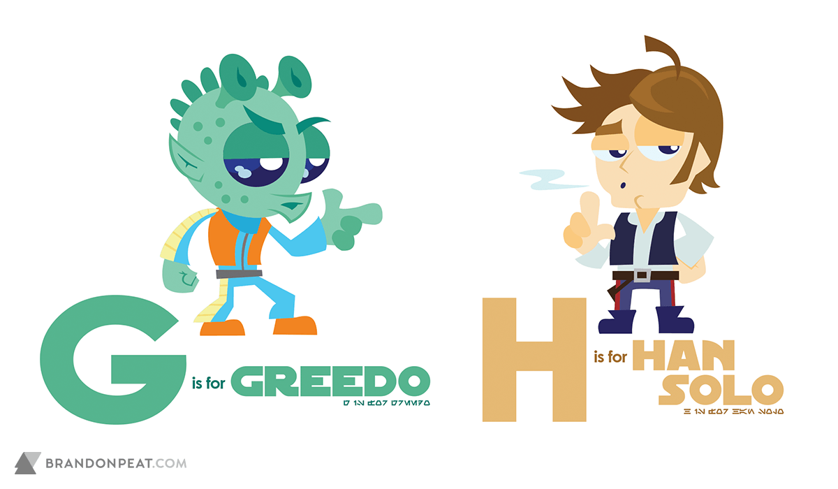 A Is For Ackbar: G Is For Greedo and H Is For Han Solo