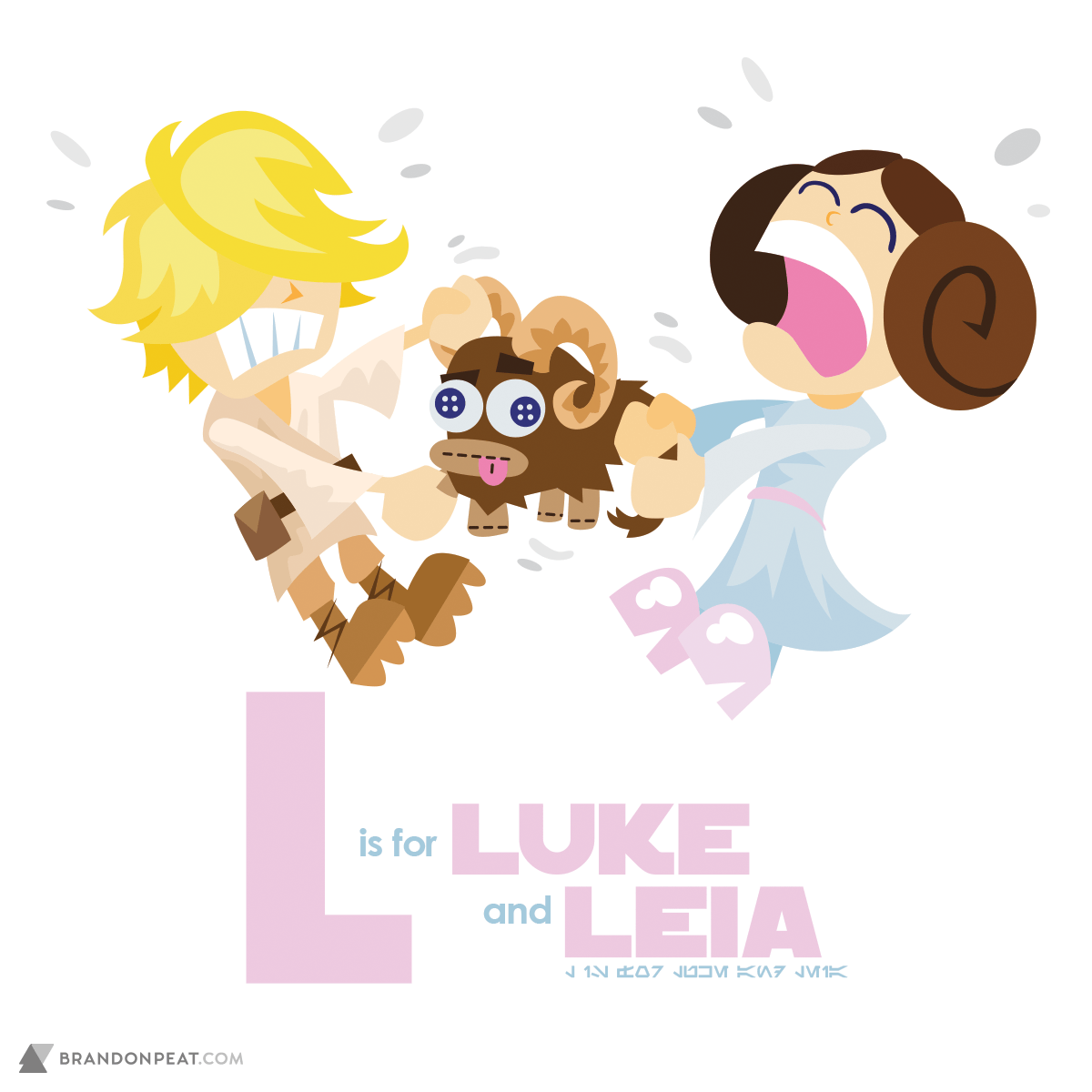 A Is For Ackbar: L Is For Luke Skywalker and Leia Organa