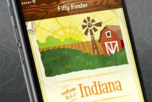 Fifty Finder: App Illustrations